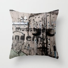 Change is a positive act Throw Pillow