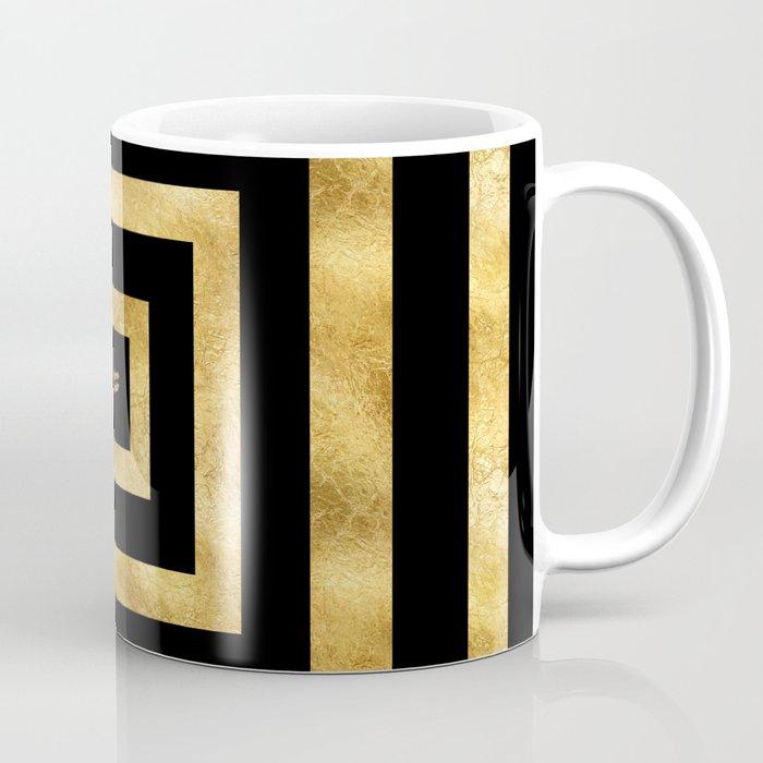 ART DECO SQUARES BLACK AND GOLD #minimal #art #design #kirovair #buyart #decor #home Coffee Mug