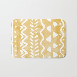 Loose bohemian pattern - yellow Bath Mat