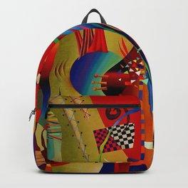 Red green transcendental abstraction Backpack