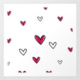 Simly Hearts Art Print