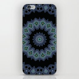 Embroidered beads pattern 2 iPhone Skin