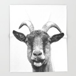 Black and White Goat Throw Blanket