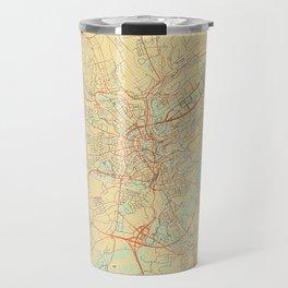 Luxembourg Map Retro Travel Mug