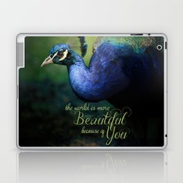 The World is More Beautiful Because of You Peacock Art Laptop & iPad Skin