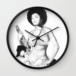 Coffy Is The Colour Wall Clock