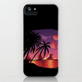 Pixel - Island Sunset iPhone Case