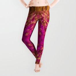 Golden Iridescence Shimmer Leggings