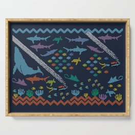 Scuba diving – Knitted ecosystem Serving Tray