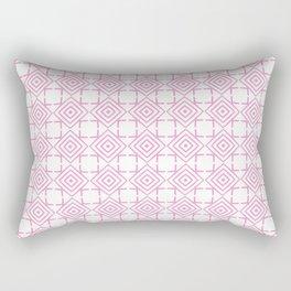 geometric pattern concentric squares pink Rectangular Pillow