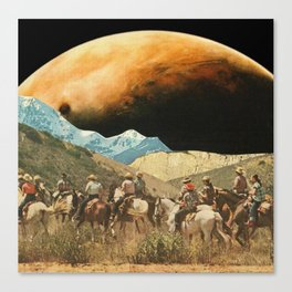 Riders on the slopes Canvas Print