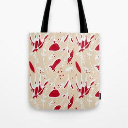 winter floral ivory Tote Bag