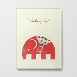 Swedish Elephant Metal Print