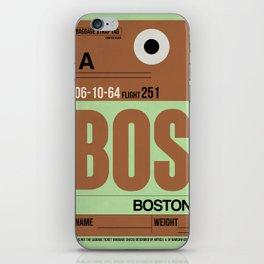 BOS Boston Luggage Tag 1 iPhone Skin