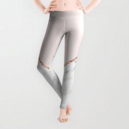 Peony blush geometric marble Leggings