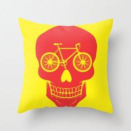 Bikehead Throw Pillow