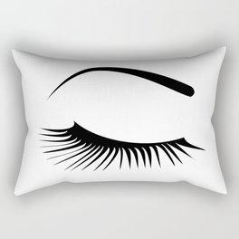 Closed Eyelashes Right Eye Rectangular Pillow