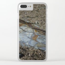 Beautiful Natural Rock Texture Among Barnacles Clear iPhone Case