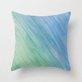 Greens and Blue Throw Pillow
