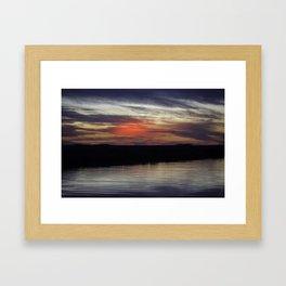 Cypremort Point - Red Sunset Framed Art Print