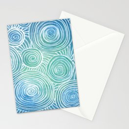 Blue Tint Abstract Stationery Cards