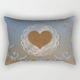 Brown Heart Rectangular Pillow
