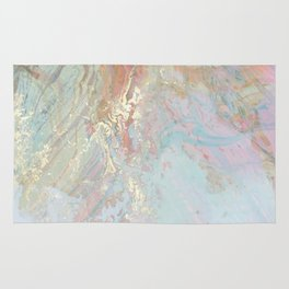 Pastel unicorn marble Rug