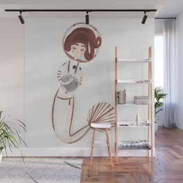 Astronaut Mermaid by Ashley Nada Wall Mural