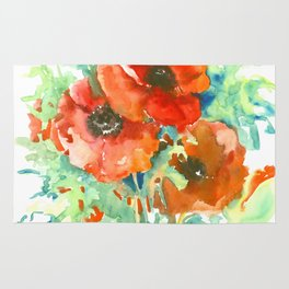 Poppy flowers rugs society6 red poppies red flowers french country rug mightylinksfo