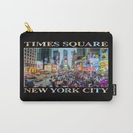 Times Square Sparkle (with type on black) Carry-All Pouch