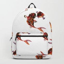 Two Koi, Feng Shui Art Koi Fish Backpack