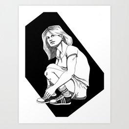 B&W Girl I Art Print