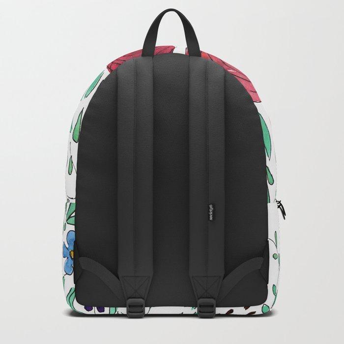 Flower meadow . Watercolor . Backpack