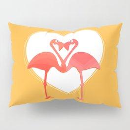 lovebirds - flamingos in love Pillow Sham