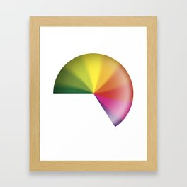 Nine-To-Five Spinning Wheel Of Death Clock Framed Art Print