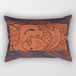 Totem Form Interplay Rectangular Pillow
