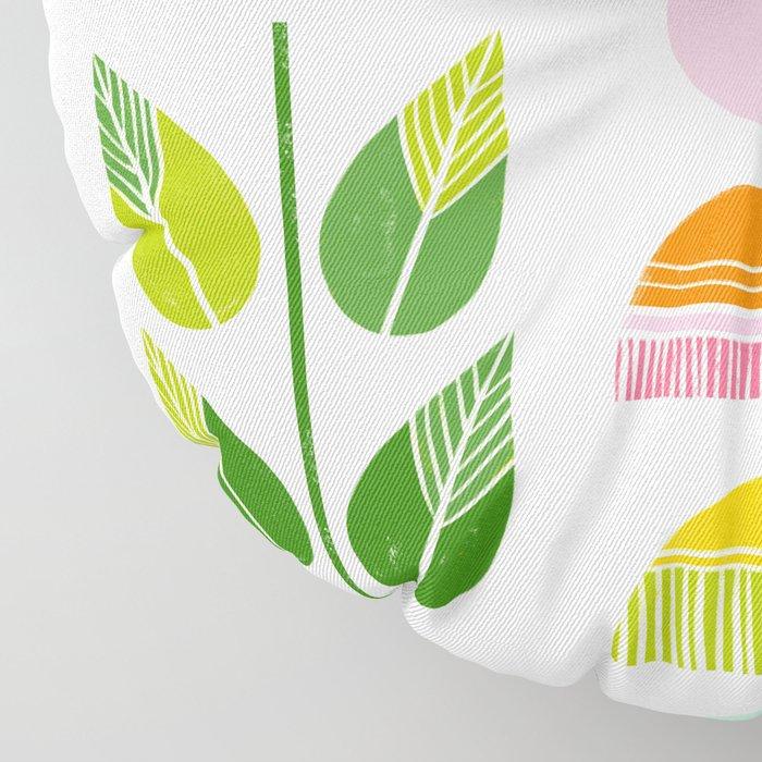 Sugar Blooms - Abstract Retro Inspired Design Floor Pillow