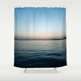 Subtle sunset Shower Curtain