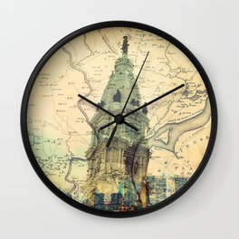 Oh Glorious Philly! Wall Clock