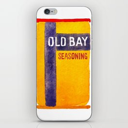 Old Bay Tin Baltimore Crab Watercolor iPhone Skin