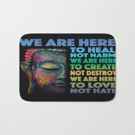 We Are Here Bath Mat