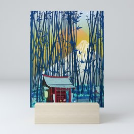 On my way to Mount Fuji Mini Art Print