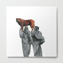 plato n aristotle walking their doge Metal Print