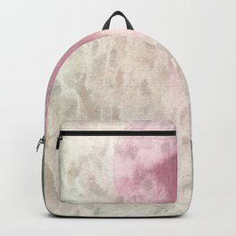 Vintage pink green ivory abstract watercolor pattern Backpack