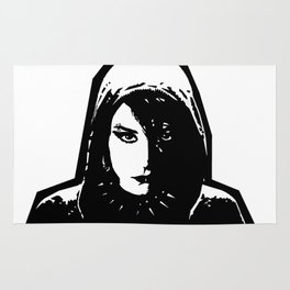 Lisbeth Salander - The Girl with the Dragon Tattoo Rug