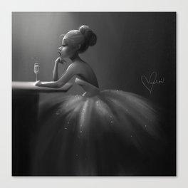 Even Princesses get the Blues Canvas Print