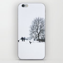 A walk in the snow iPhone Skin