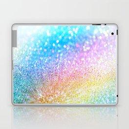 rainbow glitter Laptop & iPad Skin