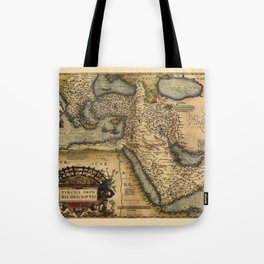 Map Of The Middle East 1600 Tote Bag