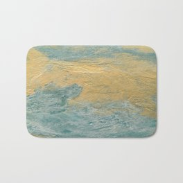 Copper Turquoise #03 Abstract Texture Bath Mat